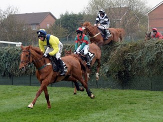 Mossey Joe in Aintree action