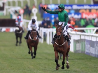 Ruby Walsh celebrates Footpad's brilliant Arkle victory