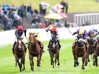 Trip To Paris (left) wins the Chester Cup