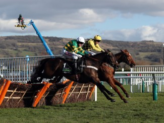 Buveur D'Air (near) and Melon are locked together at the last