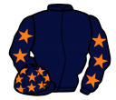 dark blue, orange stars, sleeves and stars on cap