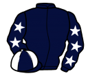 dark blue, white stars on sleeves, quartered cap