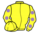 yellow, mauve spots on sleeves