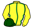 Jockey silk for Jim Bowie