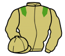 beige, light green epaulets