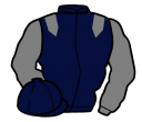dark blue, grey epaulets and sleeves