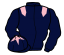 dark blue, pink epaulettes, pink star on cap
