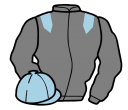 grey, light blue epaulets, light blue cap