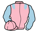 pink, light blue epaulets and sleeves