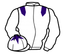 white, purple epaulets, sleeves and star on cap