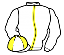 white, yellow stripe, quartered cap