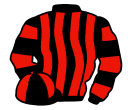 black and red stripes, hooped sleeves, quartered cap