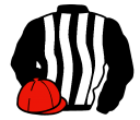 black and white stripes, red cap