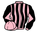 pink and black stripes, diabolo on sleeves