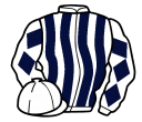 white and dark blue stripes, diamonds on sleeves