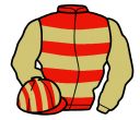 Jockey silk for Toughness Danon