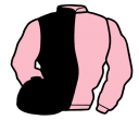 pink and black (halved), pink sleeves, black cap