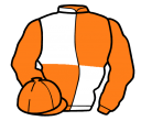 orange and white (quartered), orange sleeves
