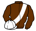 brown, white sash, white cap