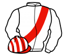 white, red sash, red and white striped cap