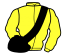 yellow, black sash and cap
