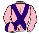 pink, purple cross belts, quartered cap