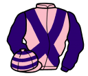 pink, purple cross belts and sleeves, hooped cap