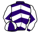 purple & white chevrons, diabolo on sleeves, quartered cap