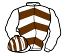 white, brown chevrons, striped cap