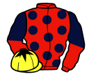 Jockey silk for Emerald Rose