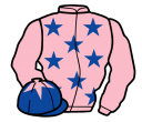 pink, royal blue stars, royal blue cap, pink star