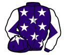 purple, white stars, diabolo on sleeves and star on cap