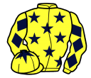yellow, dark blue stars, diamonds on sleeves, yellow cap, dark blue star