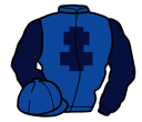 royal blue, dark blue cross of lorraine and sleeves
