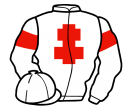 white, red cross of lorraine and armlets
