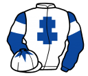 white, royal blue cross of lorraine, royal blue sleeves, white armlets and star on royal blue cap