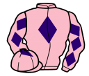 pink, purple diamond, diamonds on sleeves, pink cap, purple diamond