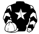 black, white star, white and black chevrons on sleeves, white cap