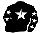black, white star, black sleeves, white stars