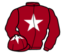 maroon, white star, sleeves and star on cap