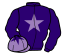 purple, mauve star, mauve cap, purple star