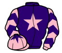 purple, pink star, pink and purple chevrons on sleeves, pink cap, purple star