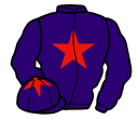 purple, red star, purple cap, red star