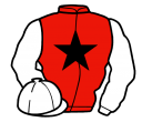 red, black star, white sleeves and cap