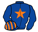 royal blue, orange star, striped cap